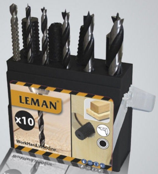 Leman Drill And File Bits 10pcs
