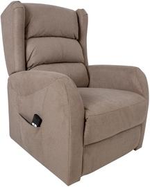 Atzveltnes krēsls Home4you Barny 13848, smilškrāsas, 72 cm x 93 cm x 104 cm