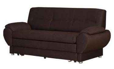 Dīvāngulta Bodzio Livonia 3 Fabric Dark Brown, 184 x 76 x 89 cm