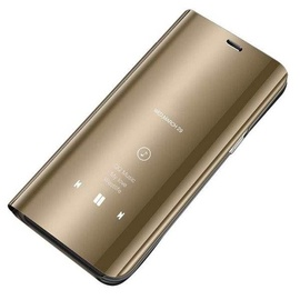 Hurtel Clear View Case For Huawei P30 Lite Gold