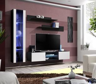 Dzīvojamās istabas mēbeļu komplekts ASM Fly R2 White/Black