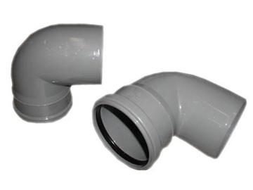 Колено Wavin Elbow Pipe Optima Grey 90° 110mm