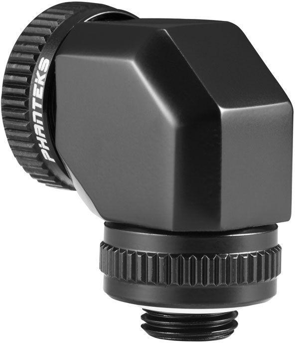 Phanteks Glacier Rotary Hard Tube Adapter 90 16mm Black