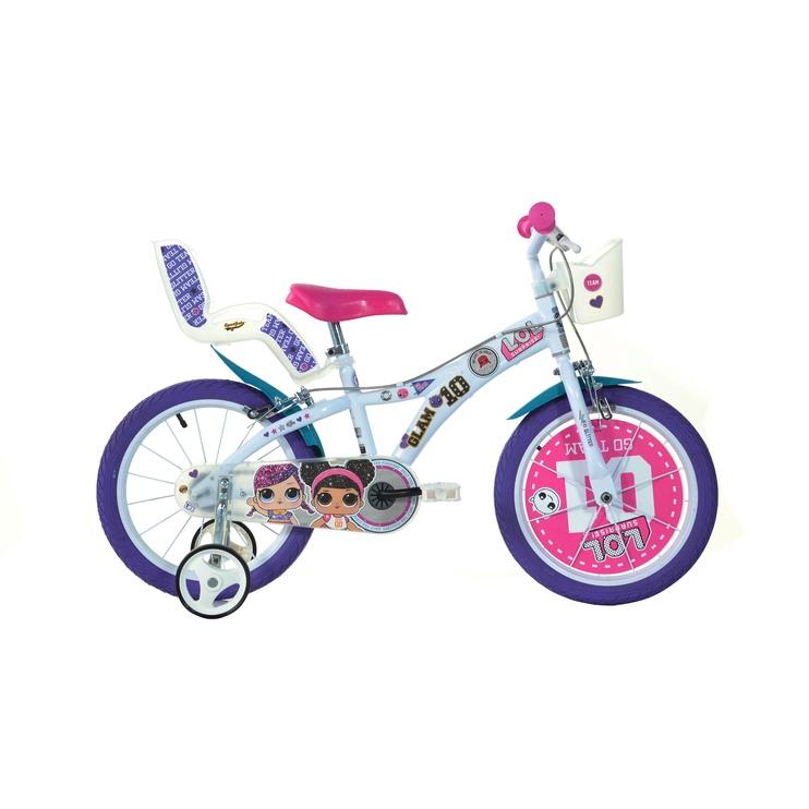"""Bērnu velosipēds Dino Bikes 616G, balta/rozā, 16"""""""