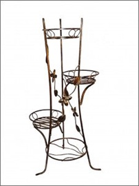 SN Flower Stand Brown 10-0541