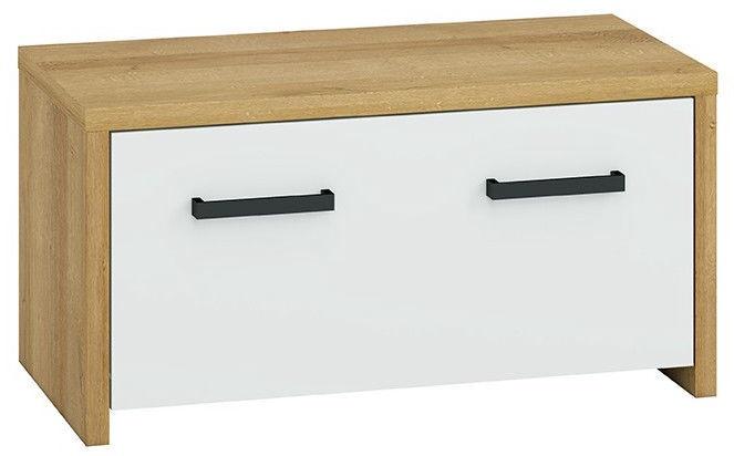 ML Meble Hallway Unit Gloss 2 Riviera Oak/White