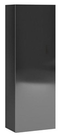Vivaldi Meble Vivo 08 Wall Shelf Black/Black Gloss