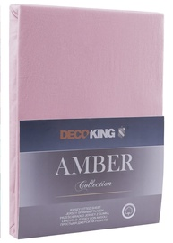 DecoKing Amber Bedsheet 140-160x200 Old Lilac