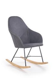 Atzveltnes krēsls Halmar Lagos Dark Grey, 80x63x102 cm