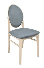 Ēdamistabas krēsls Black Red White Bernardin Sonoma Oak/Grey, 1 gab.