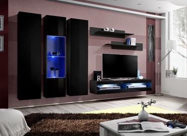 ASM Fly P10 Living Room Wall Unit Set Black