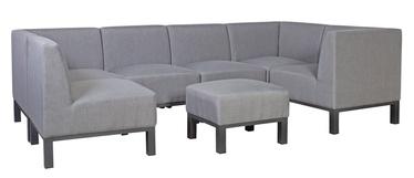 Home4you Rainbow Garden Sofa w/ Ottoman Grey