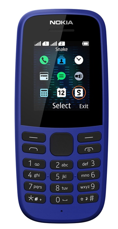 Мобильный телефон Nokia 105 2019, синий, 4MB/4MB