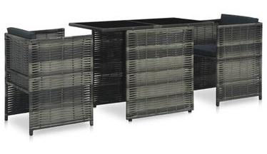 Āra mēbeļu komplekts VLX Poly Rattan Bistro, pelēks/antracīts, 2 sēdvietas