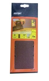 Taisnstūra smilšpapīrs Vagner SDH 108.31 180, 230x93 mm, 5 gab.