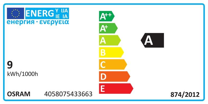 Spuldze Osram 4058075433663, led, GU10, 8.3 W, 550 lm, silti balta