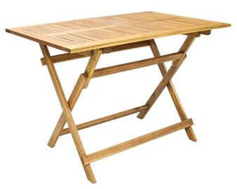 Dārza galds Home4you Finlay Acacia, 110 x 75 x 72 cm