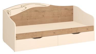 Детская кровать DaVita Fristail 56.11 Oak/Cream, 204x94 см