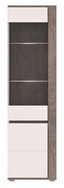 Vitrīna WIPMEB Ares AS9 Enderein Oak/White High Gloss, 60x40x196 cm