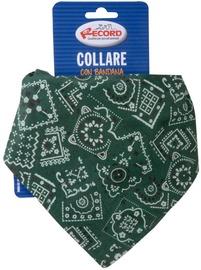 Record Nylon Collar With Bandana Green 2.5x55/65cm