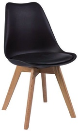 Ēdamistabas krēsls Signal Meble Kris Oak Black, 1 gab.