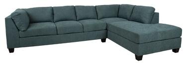 Stūra dīvāns Home4you Helmy, zaļa, labais, 210 x 309 x 82 cm