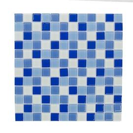 SN Mosaics C049 Blue/White 30x30cm