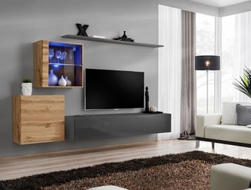 ASM Switch XV Living Room Wall Unit Set Wotan/Graphite