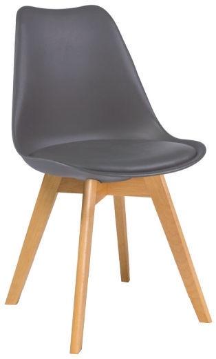 Ēdamistabas krēsls Signal Meble Kris Beech, brūna/pelēka
