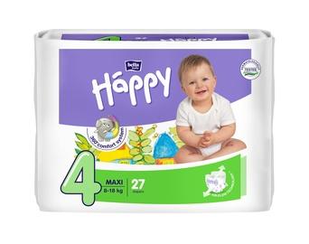 Autiņbiksītes Bella Baby Happy Maxi, 4, 27 gab.