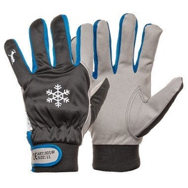 DD Warm Winter Synthetic Leather Gloves Black/Grey 10