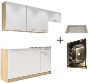 Virtuves komplekts Tuckano Complete R, balta, 2 m