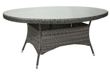 Dārza galds Home4you Geneva Grey, 180 x 120 x 77 cm