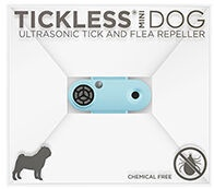 Tickless Mini Dog Ultrasonic Tick & Flea Repeller Blue