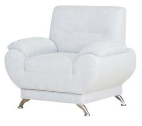 Atzveltnes krēsls Kanclers Livonia Fabric White, 92x76x89 cm
