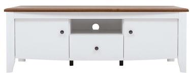 ТВ стол Black Red White Kalio, коричневый/белый, 1410x450x505 мм
