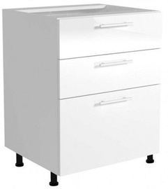 Halmar Kitchen Bottom Cabinet With Drawers Vento DS3-60/82 White/Honey Oak