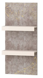 DaVita Freska 66.25 Hanging Shelf Kena/White Sand/Gray
