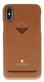 Vix&Fox Card Slot Back Shell For Apple iPhone X/XS Brown