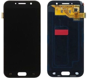 Запасные части для мобильных телефонов Samsung Galaxy A3 2017 Black LCD Screen
