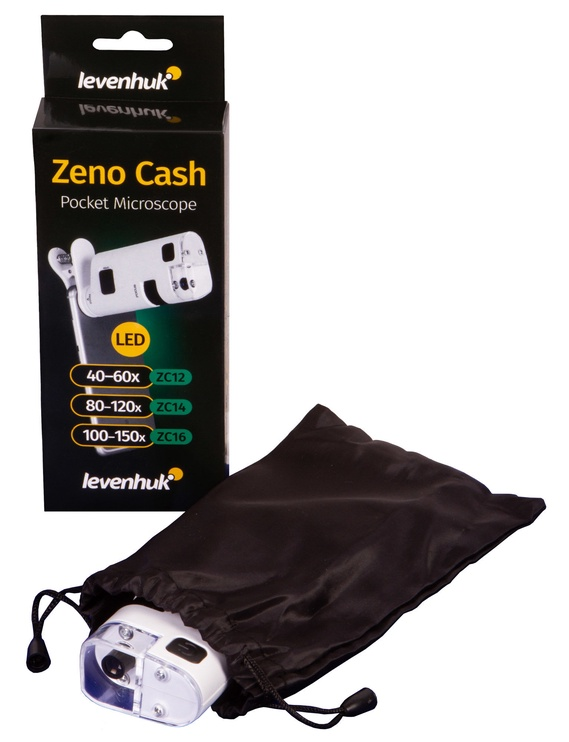 Levenhuk Zeno Cash ZC16 Pocket Microscope White