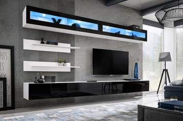 Dzīvojamās istabas mēbeļu komplekts ASM Fly I Black&White