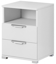 Ночной столик WIPMEB Naka 2S, белый, 46x42x61 см