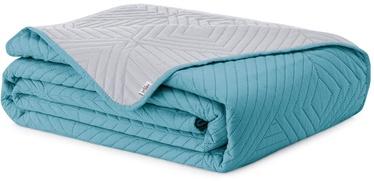 Покрывало AmeliaHome Softa, синий/серый, 200 см x 220 см