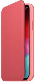 Apple Leather Folio Case For Apple iPhone XS Max Peony Pink