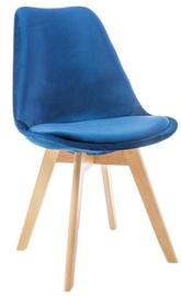 Ēdamistabas krēsls Signal Meble Dior Velvet Buk Blue, 1 gab.