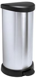 Мусорное ведро Curver Deco Silver, 40 л