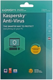 Kaspersky Antivirus 2018 1-PC 1Y Renew