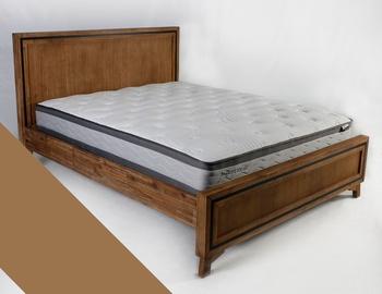 Gulta Home4you Richard + Olympia Top Brown, ar matraci, 160 x 200 cm