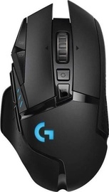 Spēļu pele Logitech G502 Lightspeed, melna, bezvadu, optiskā
